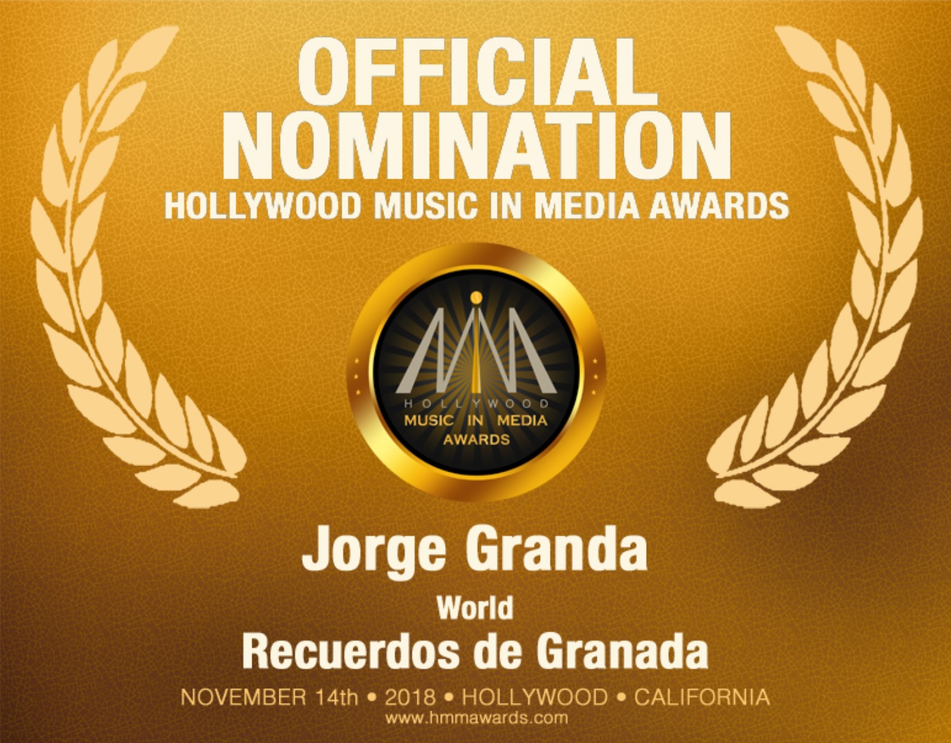 Jorge Granda Nominacion Oficial HMMA